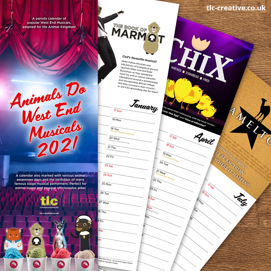 TLC Animal Musicals Calendar 2021 Soc Media